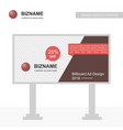 company bill board design with ball logo vector image vector image