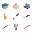 Cosmetics manicure beauty icons set vector image vector image