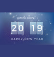 countdown to the new year happy new year 2019 vector image vector image