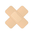 crossed bandage icon - two crossed adhesive vector image vector image