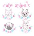 cute french bulldog princess hand drawn graphic vector image