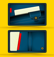 Denim business card vector image vector image