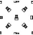 diamond in box pattern seamless black vector image vector image