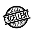 excellent rubber stamp vector image vector image