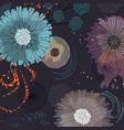 fantasy fairytale flowers background modern vector image