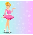 figure skating cute girl vector image