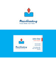 flat uploading logo and visiting card template vector image vector image