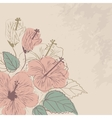 floral background in vintage style vector image vector image