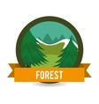 Forest natural parks and landscape vector image