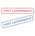 fort lauderdale textile stamps vector image vector image
