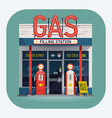 Gas Station vector image