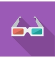 Glasses 3D single icon vector image