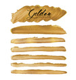 golden brush stroke vector image vector image