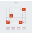 Graph paper with indicators and scale growth vector image vector image