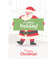 greeting card with santa claus vector image vector image
