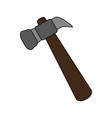hammer doodle over white background vector image