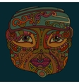 hand drawn ethnic head vector image
