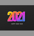 happy new year 2021 cover abstract christmas card vector image