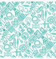 health care seamless pattern vector image vector image