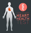 hereditary heart health test logo icon design vector image vector image