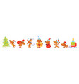 horizontal banner with christmas dogs vector image vector image