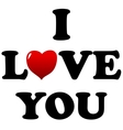 I love you symbol vector image vector image