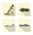 isolated object of weapon and gun sign collection vector image
