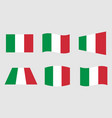 italy flag official colors of the italian vector image vector image