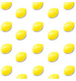 lemon with white background vector image vector image