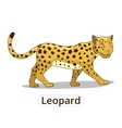 leopard african savannah animal cartoon vector image vector image