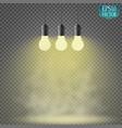 light bulb illuminated realistic vector image vector image