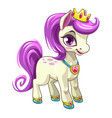little cute cartoon pony princess pretty horse vector image vector image