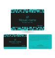 Loyalty card design template vector image vector image