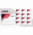 modern 2020 calendar design layout template