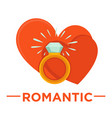 movie genre romatic cinema icon heart vector image