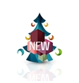 New sale tag badge for Christmas vector image vector image