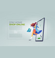 online shopping cocept vector image vector image
