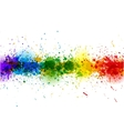 Paint splashes background banner made of vector image vector image