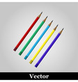 pencil icon on grey background vector image
