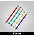 pencil icon on grey background vector image vector image
