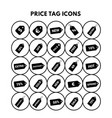 price tag icons vector image vector image