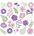 Purple Floral Set vector image vector image