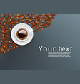 realistic white coffee cup top view template vector image