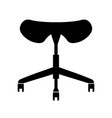 saddle seat vector image vector image
