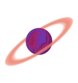 Saturn cartoon icon vector image vector image