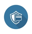 Secure Transaction Icon Flat Design vector image vector image