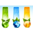 set banners with globe vector image vector image