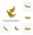 set of eagle logo design logo template vector image