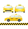 set of isolated taxi car silhouette vector image vector image