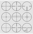 set of telescopic sights vector image